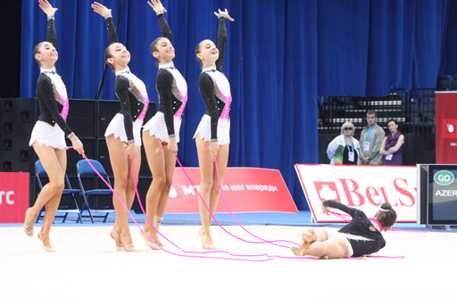 Azerbaijani junior group team to perform at European Rhythmic Gymnastics Championship's final (PHOTO) - Gallery Image