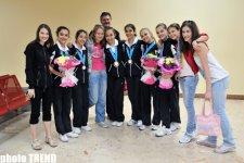 Азербайджанские гимнастки вернулись с чемпионата Европы (ФОТО) - Gallery Thumbnail