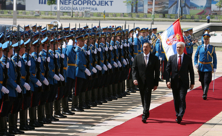 Azerbaijani President officially welcomed to Belgrade  (PHOTO) - Gallery Image