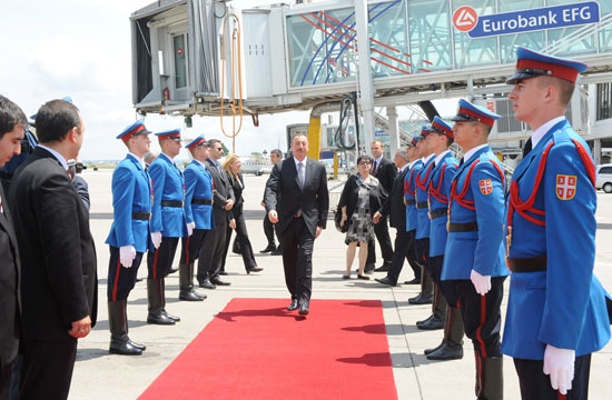 Azerbaijani President ends his official visit to Serbia