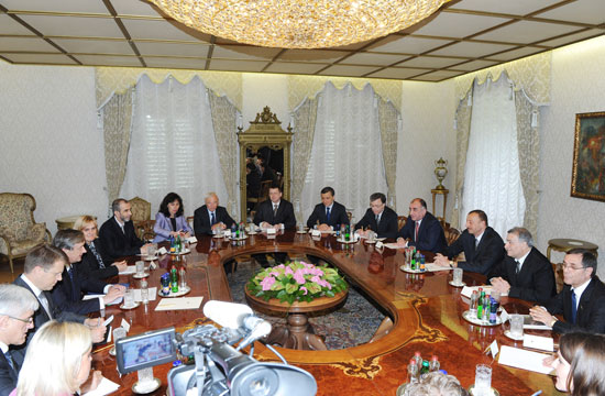 Presidents of Azerbaijan and Slovenia have expanded meeting (PHOTO) - Gallery Image