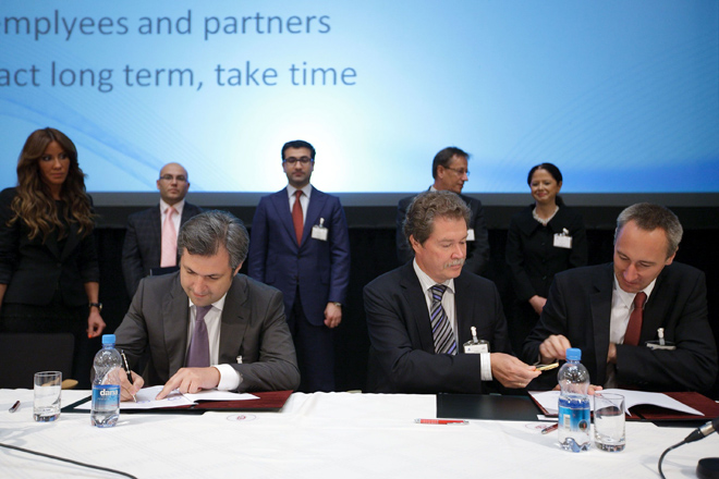 "A Memorondamum on cooperation has been signed between ""AtaHolding""  OJSC  and Slovenian reinsurance company  ""Sava Re Ltd"" (PHOTO) - Gallery Image"