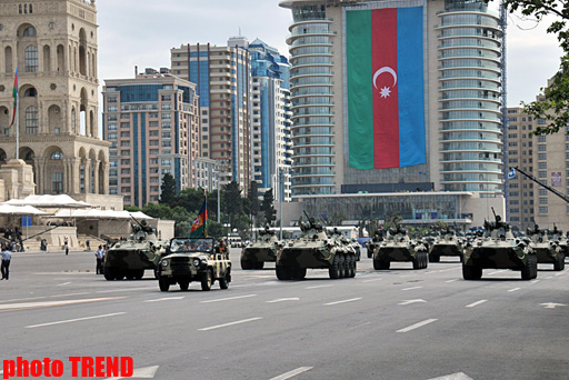 Rehearsals  underway for military parade in Baku - PHOTOSESSION