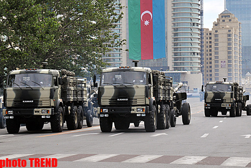 Rehearsals  underway for military parade in Baku - PHOTOSESSION - Gallery Image