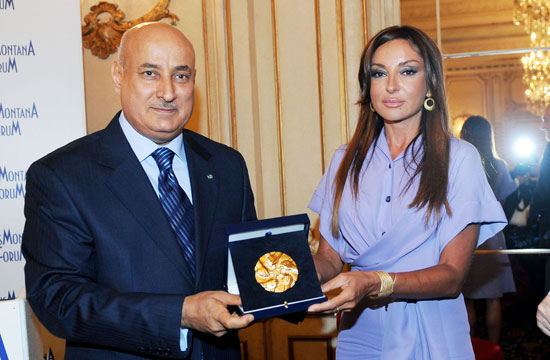 Azerbaijan`s first lady receives Crans Montana Forum`s Gold Medal (PHOTO) - Gallery Image