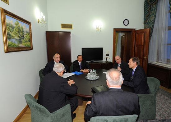 President Ilham Aliyev meets OSCE Minsk group co-chairs