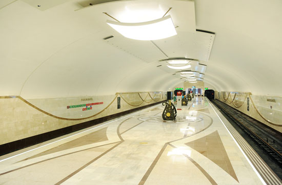 Azerbaijani President opens Darnagul station of Baku Metro (PHOTO) - Gallery Image