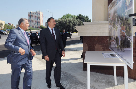 Azerbaijani President inspects reconstruction work at Heydar Aliyev Park in Binagadi (PHOTO) - Gallery Image