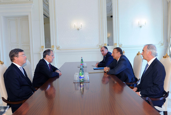 Azerbaijan's President receives Russian FM - Gallery Image