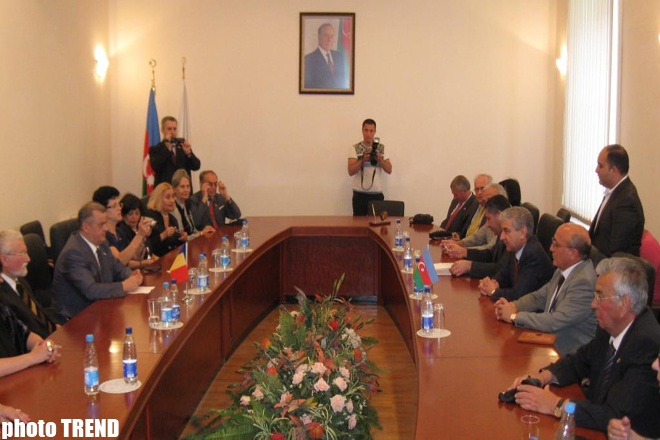Azerbaijan's ruling party held a meeting with Romania's ruling Democratic Liberal Party (PHOTO)