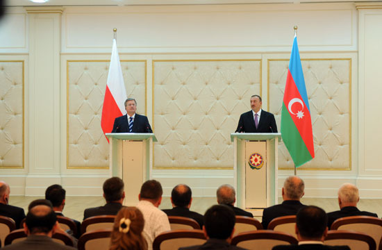 Azerbaijani, Polish presidents give joint press conference - Gallery Image