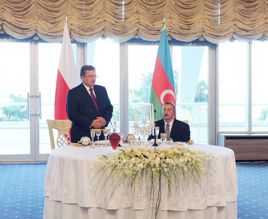 An official dinner hosted in honor of visiting Polish President (PHOTO) - Gallery Image