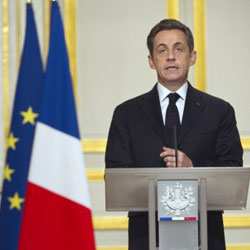 Nicolas Sarkozy: Franco-German-Italian summit in Rome on January 20