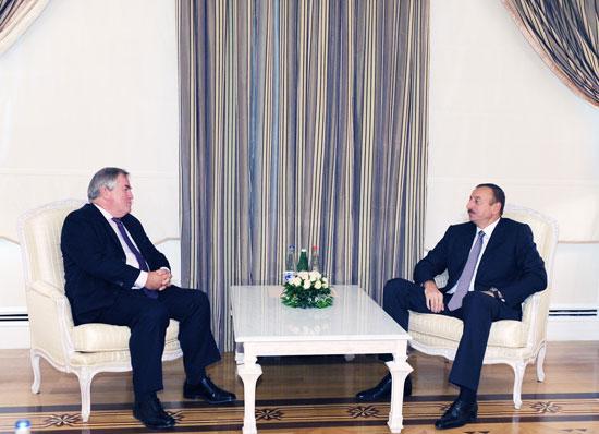 Azərbaycan Prezidenti AŞ PA-nın demokrat qrupunun sədrini qəbul edib