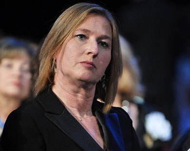 Israel's Livni urges US to step up Iran sanctions