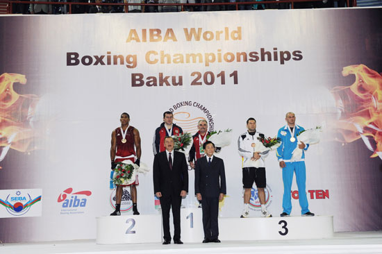 President of Azerbaijan and his spouse sees final bouts of world boxing championship in Baku (PHOTO) - Gallery Image