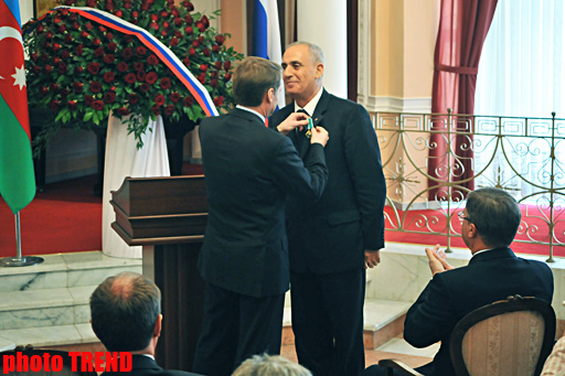 Azerbaijani news agency director awarded Russian order (UPDATE) (PHOTO)
