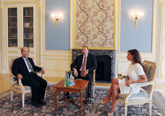 Azerbaijani President and his spouse meet former director general of UNESCO