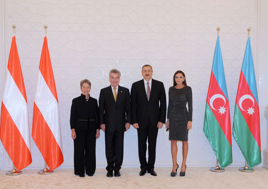 Austrian president officially welcomed to Azerbaijan (PHOTO) - Gallery Image