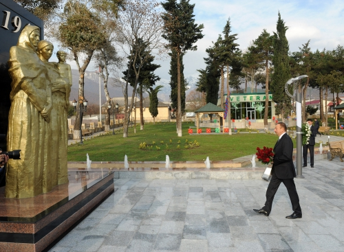Azerbaijani President inaugurates Park of Heroes in Oguz (PHOTO) - Gallery Image