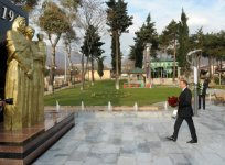 Azerbaijani President inaugurates Park of Heroes in Oguz (PHOTO) - Gallery Thumbnail