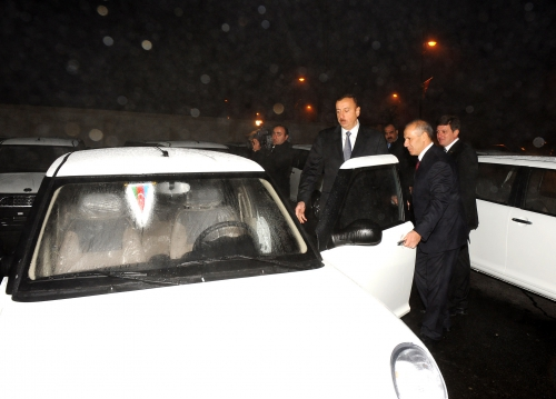 Azerbaijani President attends inauguration ceremony of residential building for Karabakh war disabled people and martyr families in Gabala  (PHOTO) - Gallery Image