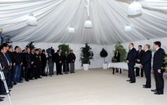 Azerbaijani President attends inauguration ceremony of residential building for Karabakh war disabled people and martyr families in Gabala  (PHOTO) - Gallery Thumbnail