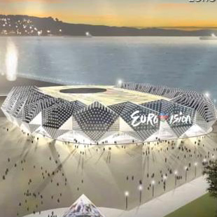 "Sketch of building to be possible venue for ""Eurovision 2012"" Song Contest made public (PHOTO, VIDEO)"
