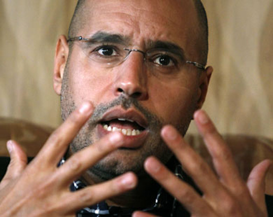 Gaddafi's son detained