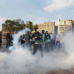 99 injured as Egypt's military clashes with protesters