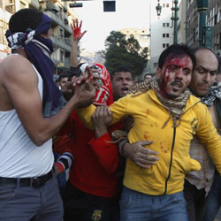 At least 30 injured in fresh clashes in central Cairo