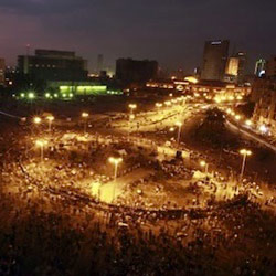 Clashes near Tahrir square after military ruler's speech