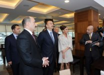 Azerbaijani president and his spouse attend opening of Nizami movie theatre after major reconstruction (PHOTO) - Gallery Thumbnail