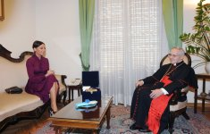 Azerbaijan`s first lady meets president of Pontifical Council for Inter-religious Dialogue of Vatican (PHOTO) - Gallery Thumbnail