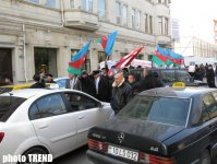 Protest held in front of French embassy in Baku (PHOTO) - Gallery Thumbnail