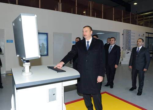 "Ilham Aliyev inaugurates plant of modern construction materials ""AAC"" in Garadag district (PHOTO) - Gallery Image"