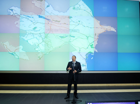Azerbaijani President opens Intellectual Transport Management Center in Baku (PHOTO) - Gallery Image