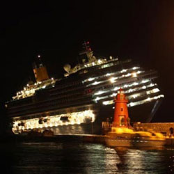 Body of woman found on Concordia wreck