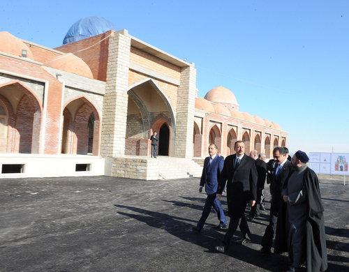 Azerbaijani President gets acquainted with reconstruction work at Imamzade mosque complex in Ganja city (PHOTO) - Gallery Image