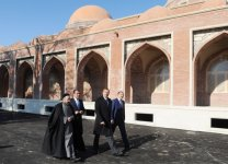 Azerbaijani President gets acquainted with reconstruction work at Imamzade mosque complex in Ganja city (PHOTO) - Gallery Thumbnail