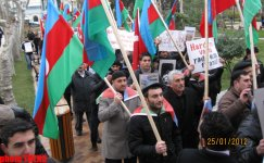 New protest held in front of French Embassy in Baku (PHOTO) - Gallery Thumbnail