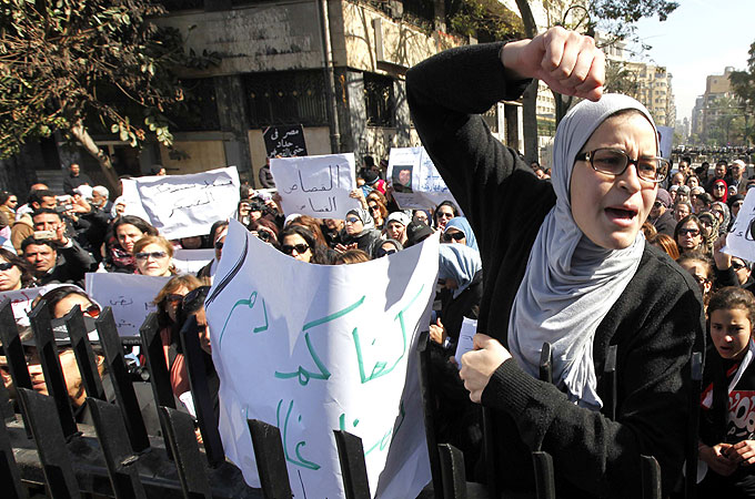 Egyptians gather for anti-military rally