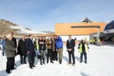 President Ilham Aliyev and his spouse inspect construction of Shahdag Winter and Summer Tourism Complex in Gusar (PHOTO) - Gallery Thumbnail
