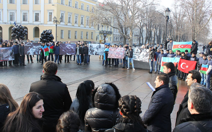 Protest rally held in Odessa in connection with 20th anniversary of Khojaly genocide (PHOTO)