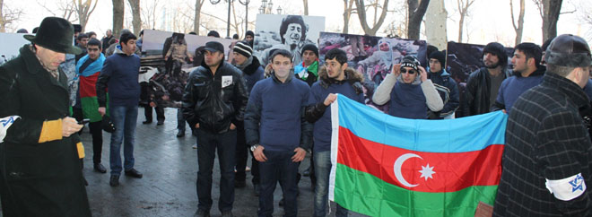 Protest rally held in Odessa in connection with 20th anniversary of Khojaly genocide (PHOTO) - Gallery Image