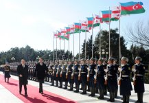 Georgian President officially welcomed to Azerbaijan (PHOTO) - Gallery Thumbnail