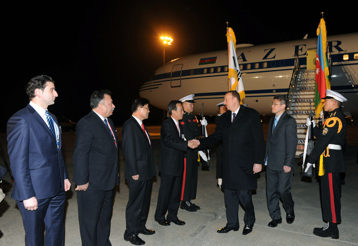 Azerbaijani President arrives in South Korea for working visit - Gallery Image