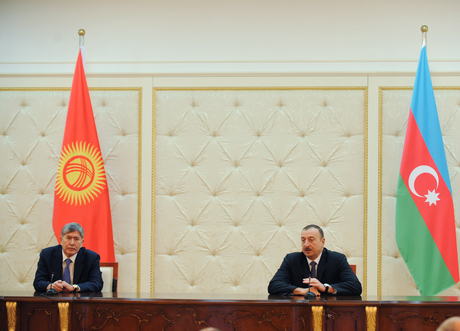 President Ilham Aliyev : Azerbaijan and Kyrgyzstan have an active cooperation on regional and bilateral issues (PHOTO) - Gallery Image