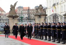 Azerbaijani President officially welcomed to Czech Republic (PHOTO) - Gallery Thumbnail
