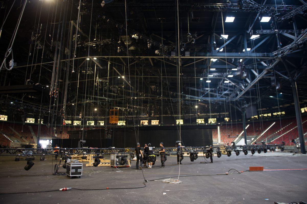 """""""Bakı Kristal Zalı""""nda Eurovision hazırlıqlarından son görüntülər (FOTO) - Gallery Image"""